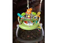 Baby's favourite Fisher-Price Woodland Friends space saving jumparoo