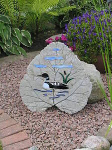 Concrete garden stones made with stained glass. ( Large ) Kingston Kingston Area image 2