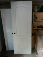 2 White Wood Doors - Excellent Condition