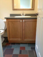 Maple Bathroom Vanity, Countertop and Sink