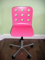 IKEA Jules Junior Desk Chairs - 1 Pink and 1 White
