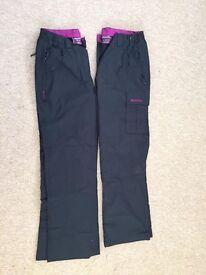 Mountain warehouse fleece lined walking trousers x2
