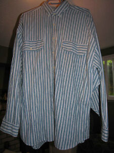 3 Long Sleeved Collared shirts Canary Island Blue Rodeo OLD NAVY