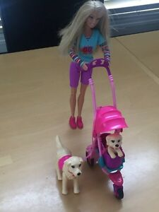 Barbie Walking Dogs $10 OBO