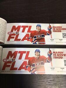 Montreal Canadiens vs Florida Panthers Nov 15 Desjardins