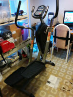 Tempo 625S elliptical exercise machine with heart rate monitor