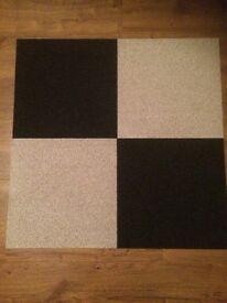 Black and cream carpet tiles