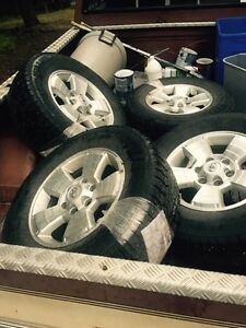 4 studded winter tires on factory Toyota rims