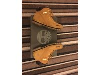 Sand brown Timberland boots size 5 excellent condition