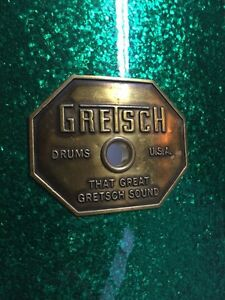 1970's Gretsch Green Sparkle  Drum Kit