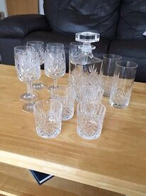 Set of Crystal Wine Glasses, Decanter & Whiskey Glasses (13 pieces in total) £14.99 O.N.O.