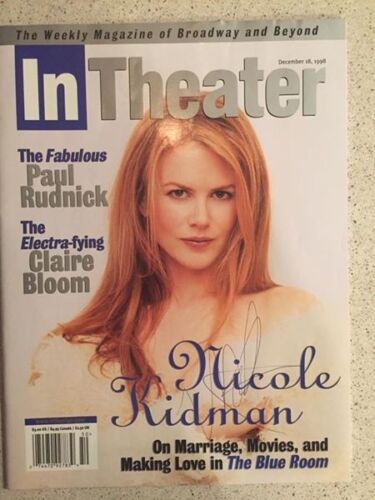 Signed Nicole Kidman & Iain Glen In Theater Magazine The Blue Room 1998 Broadway