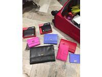Genuine leather purse men's and ladies wallets