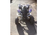 Yamaha Raptor 660cc on road