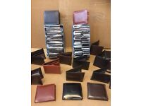 Job Lot x 22 - £25 Men's Leather Wallets Black/Brown