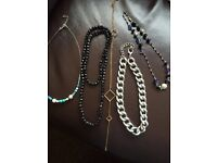 Selection of necklaces.