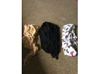 x3 ladies scarves