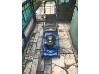 Petrol mower with electric start