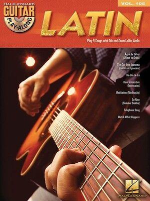 Latin Sheet Music Guitar Play Along Book And Cd New 000700939