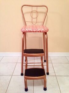 RETRO VINTAGE 1950'S STEP STOOL CHAIR