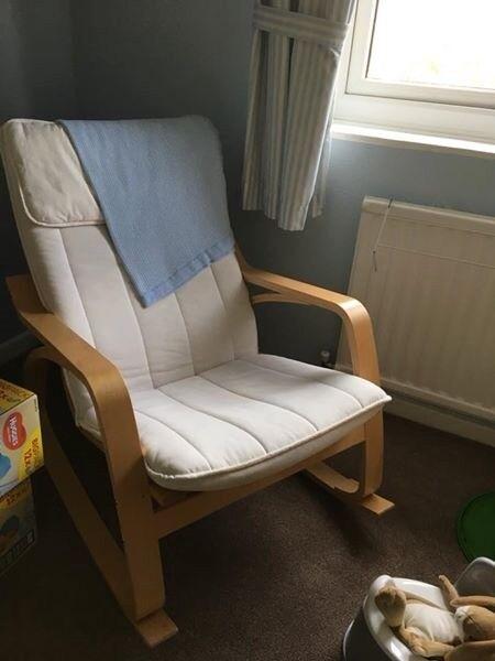 """IKEA """"Poang"""" Rocking Chair"""