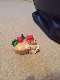 Paws for thought mince pie Christmas decoration