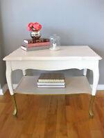 Table d'appoint relookée - Refurbished Side Table/Nighstand