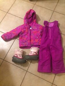 Columbia 2t kids snowsuit and sorel 8 boots London Ontario image 1
