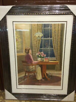 "Large Beautiffuly Framed JAMES LUMBERS ""The Gift"" 38""x29"""