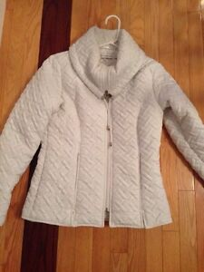 Woman's winter white fall coat