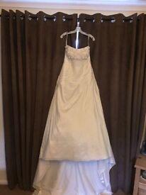 Alfred Angelo White Diamond Wedding Dress