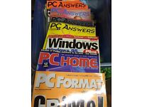 Various PC magazines from the 90's