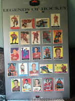 Legends of Hockey 1942-1972 LAMINATED Poster NHL Hockey Memorabi