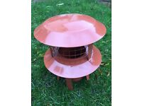Terracotta 150mm chimney cowl connector for flexible liner