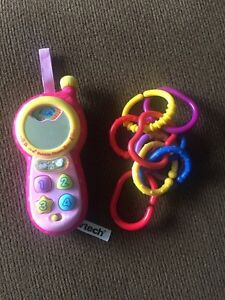 Vtech babble phone and chain links