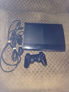 PS3+controller with usb cable+power cable+HDMI+14 games
