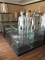 Glass Showcases, Counters, Mannequins, Store fixtures