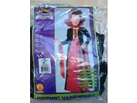 Halloween girls vampire costume age 8-10