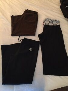 Size 10 lulu crops and pants GUC