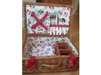 Cath Kidston Picnic Basket Hamper in Cherry Design Gorgeous