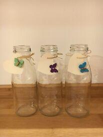 80 x Glass Milk Bottles (250ml)