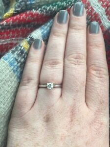 Diamond solitaire engagement ring from Herbins