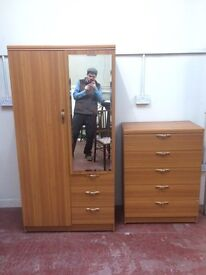 Modern wardrobe and chest of drawers