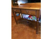 Traditional pine desk