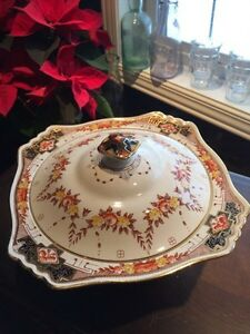 Royal Winton Antique Rare Covered Serving Bowl with Lid