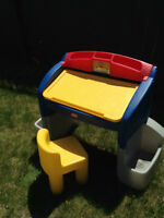Little tikes drawing table and chair