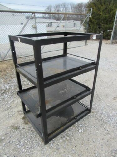 "Custom Heavy Duty Welder Rack 37"" x 27-1/2"" x 30"" With Sliding Drawers"
