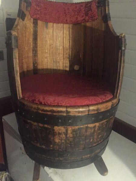 Barrel rocking chair