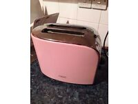 Pink kitchen accessories, kettle, toaster, George foreman grill