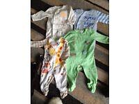 4 sleep suits 6-9 months, John Lewis , Tu mothercare, disney